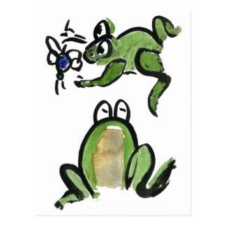 Froggy erhält ein Stückchen zu essen Postkarte