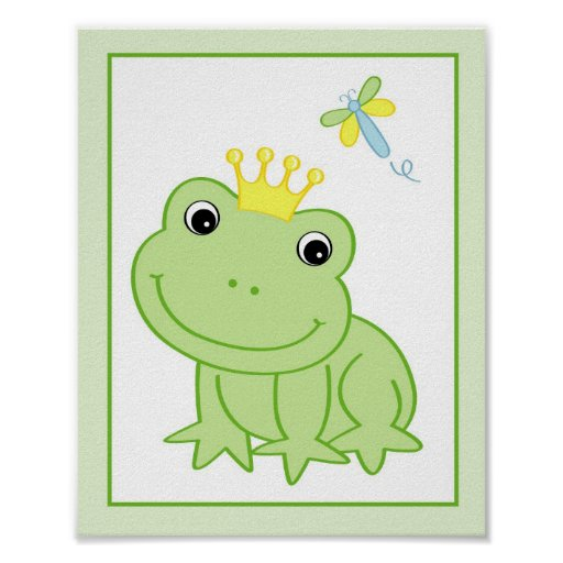 froggy geschichten frosch kinderzimmer wand kunst poster zazzle. Black Bedroom Furniture Sets. Home Design Ideas