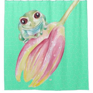 Froggy-Grün Duschvorhang