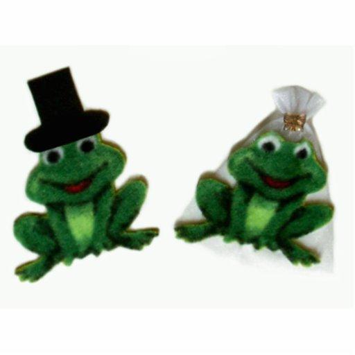Froggy-Hochzeits-Skulptur Fotoausschnitte