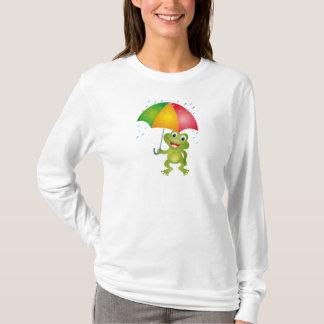 Froggy mit Regen-Regenschirm T-Shirt
