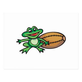 Froggy und Fußball Postkarte