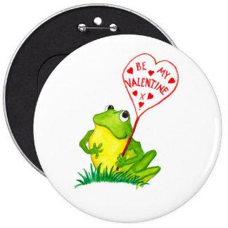 Froggy-Valentinsgruß-Knopf - kolossal! Anstecknadel