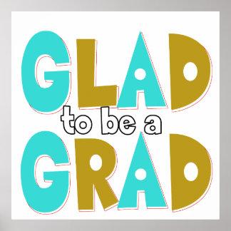 Froh, ein Absolvent-Abschluss 2012 zu sein Plakatdruck