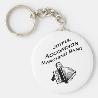 Frohe Akkordeon-Blaskapelle Standard Runder Schlüsselanhänger