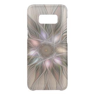 Frohe Blumen-abstraktes beige BrownblumenFraktal Get Uncommon Samsung Galaxy S8 Hülle