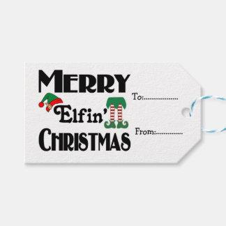 Frohe Elfin Weihnachten Geschenkanhänger