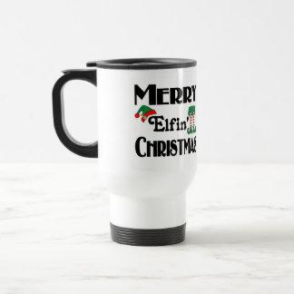 Frohe Elfin Weihnachten Reisebecher