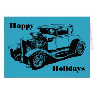 Frohe Feiertage 1931 5 Fenster-Coupé Grußkarte
