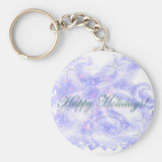 Frohe Feiertage 3 grundlegender Knopf Keychain Standard Runder Schlüsselanhänger