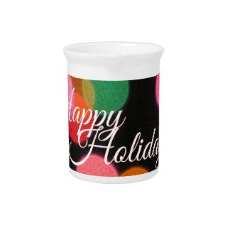 Frohe Feiertage bunte Lichter! Getränke Pitcher