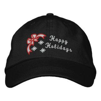 Frohe Feiertage der Hut der Weihnachten gestickten Besticktes Baseballcap