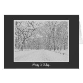 Frohe Feiertage - der Weg-Winter des Central Karte