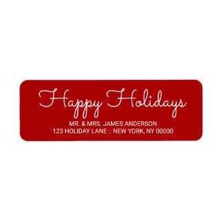 Frohe Feiertage elegante rote Hand beschrifteter