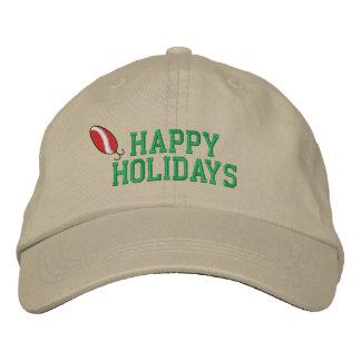 Frohe Feiertage Fischerei des gestickten Hutes Bestickte Kappen