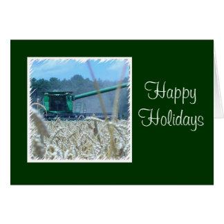 Frohe Feiertage für Familien-Bauernhof oder Grußkarte
