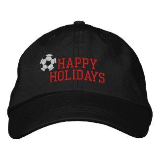 Frohe Feiertage Fußball gestickter Hut