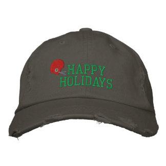 Frohe Feiertage Fußball gestickter Hut Bestickte Mütze