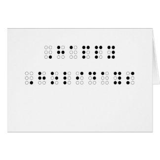 Frohe Feiertage in Blindenschrift Karten