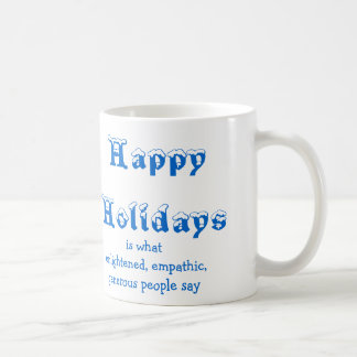 frohe Feiertage Kaffeetasse