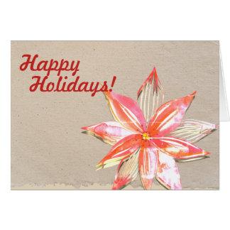Frohe Feiertage Karte mit Poinsettia-Entwurf