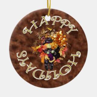 Frohe Feiertage Kranz-Verzierung Keramik Ornament