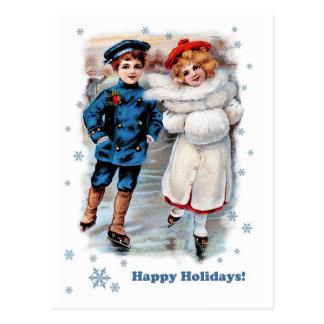 Frohe Feiertage. Kundengerechte Postkarte