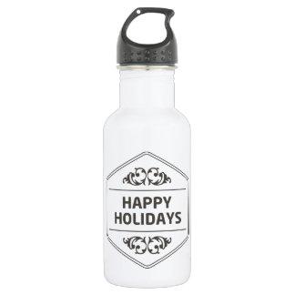 Frohe Feiertage kundenspezifischer Hintergrund Edelstahlflasche
