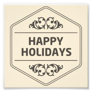 Frohe Feiertage kundenspezifischer Hintergrund Fotodruck