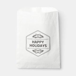 Frohe Feiertage kundenspezifischer Hintergrund Geschenktütchen