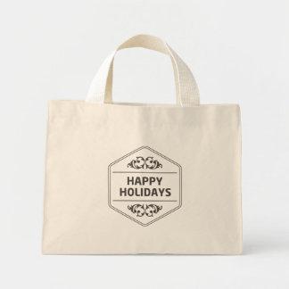 Frohe Feiertage kundenspezifischer Hintergrund Mini Stoffbeutel
