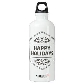 Frohe Feiertage kundenspezifischer Hintergrund Wasserflasche
