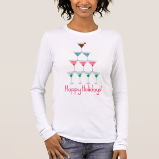 Frohe Feiertage Langarm T-Shirt