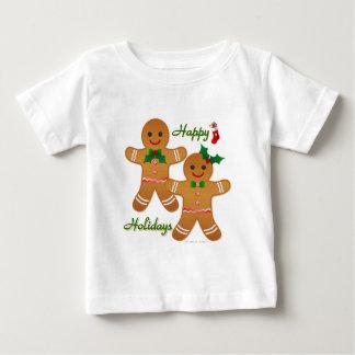 Frohe Feiertage Lebkuchen-Mann-Jungen-Mädchen Baby T-shirt