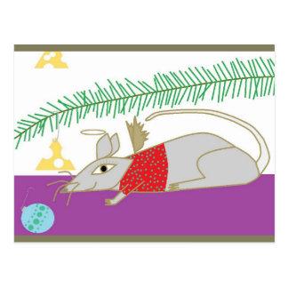 Frohe Feiertage Maus im Haus Postkarte