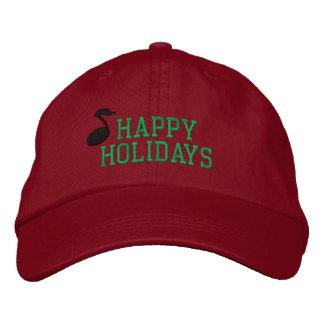 Frohe Feiertage Musik gestickter Hut Bestickte Baseballkappe
