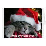 Frohe Feiertage! Niedliche Kätzchen-Karte
