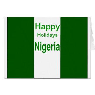 Frohe Feiertage Nigeria Karte