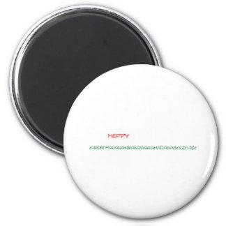 Frohe Feiertage Runder Magnet 5,7 Cm