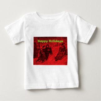 Frohe Feiertage Schlitten-Rennen Hemden
