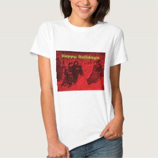 Frohe Feiertage Schlitten-Rennen T-shirt
