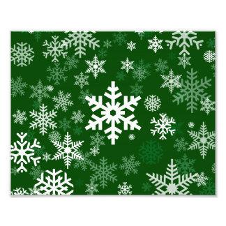 Frohe Feiertage Schneeflocke-Grün für jeder Photos