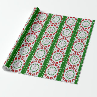 Frohe Feiertage spielt grünes Rot Packpapier die