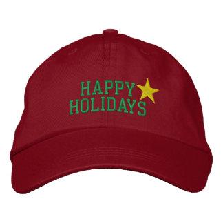 Frohe Feiertage Stern gestickter Hut Besticktes Baseballcap