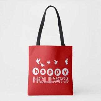 Frohe Feiertage Tauben Tasche