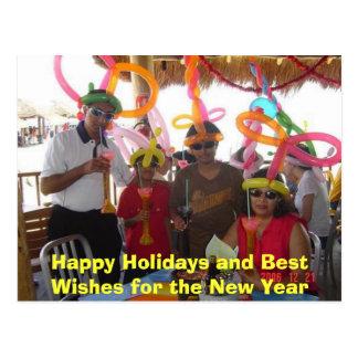 Frohe Feiertage und beste Wünsche für das neue Postkarte