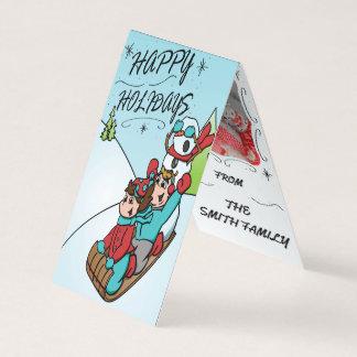 Frohe Feiertage vertikale faltende Spitzenkarte Karte