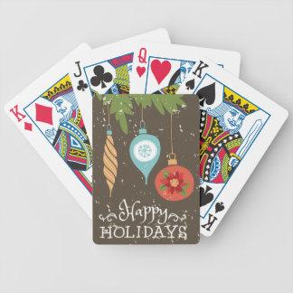 Frohe Feiertage verziert Weihnachten dekoratives Bicycle Spielkarten