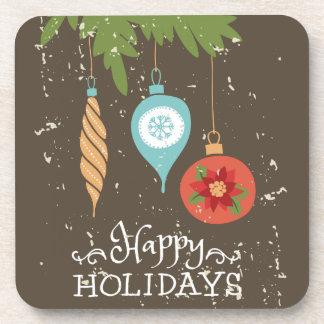 Frohe Feiertage verziert Weihnachten dekoratives Untersetzer