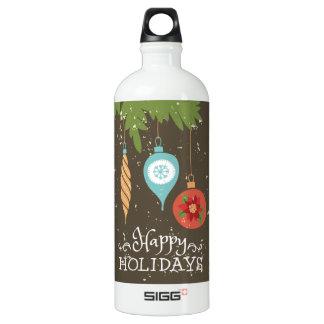Frohe Feiertage verziert Weihnachten dekoratives Wasserflasche
